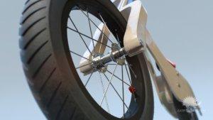 dettaglio dell'animazione 3D della ruota di Rumble
