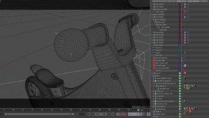 view port della modellazione 3D di Rumble