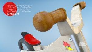 animazione 3D della manopola in legno di Rumble