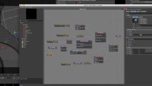 nodi degli shader 3D usati per l' animazione di Rumble