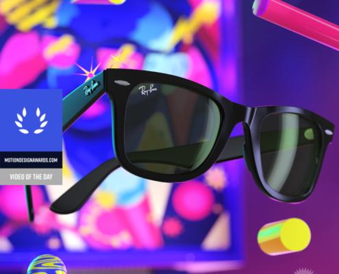 occhiali da sole 3D realizzati come motion director