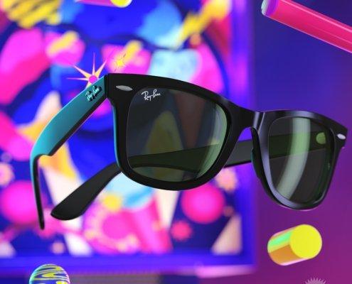 occhiali da sole 3D