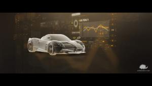 animazione in computer grafica per automotive.