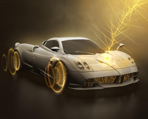motion design e visula effects per un progetto di automotive.